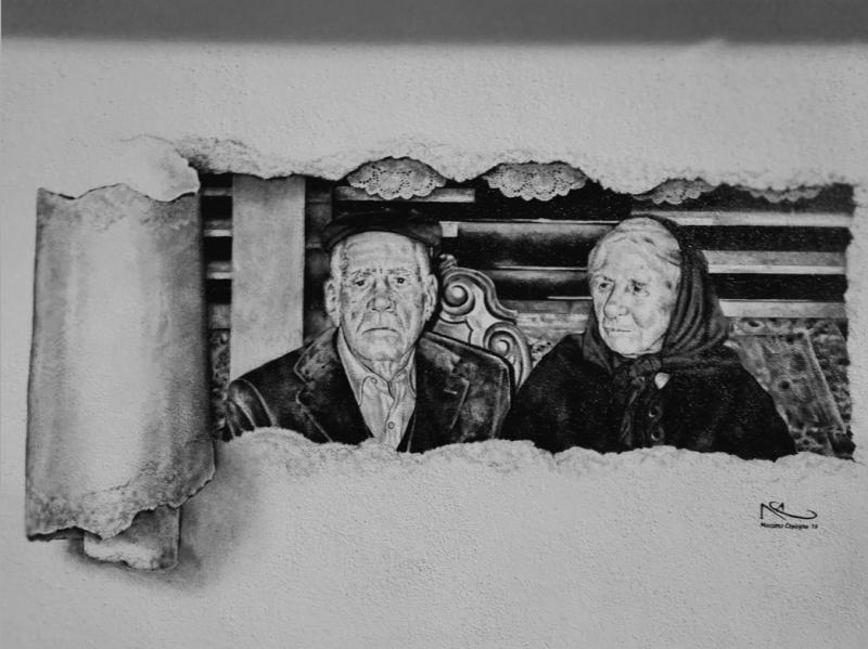 Blue Zones - Muurschildering 100+ jarigen