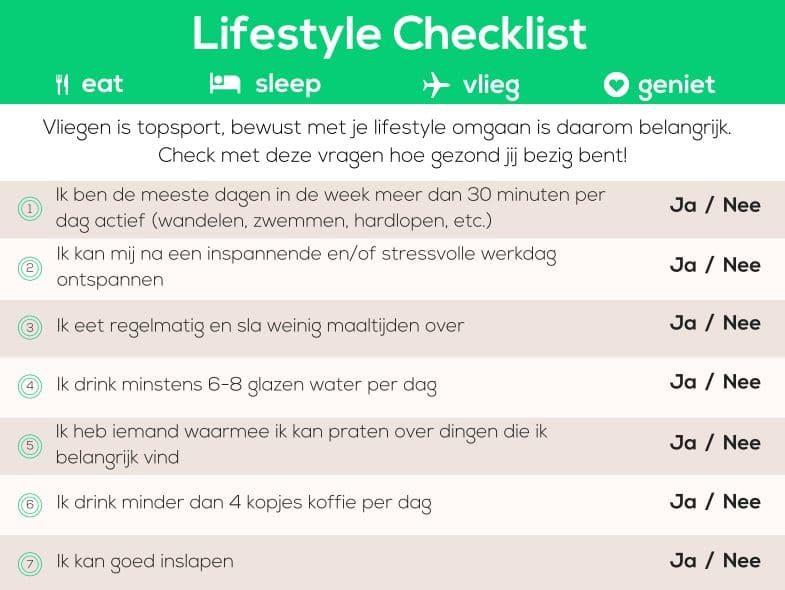 Nolost Lifestyle Checklist